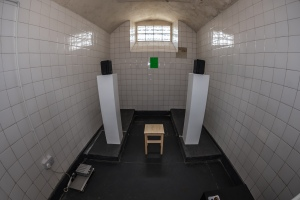 """To The Next"", a sound installation by Kim Walker. Installation shot from Confined Spaces exhibition in the cells of the old Campbeltown gaol and police station. Runs to August 21. More info at confined-spaces.org. Please credit photographer Raymond Hosie"